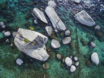 Bonsai Rock Photograph - Emerald Waters - Bonsai Rock, Lake Tahoe by Brad Scott