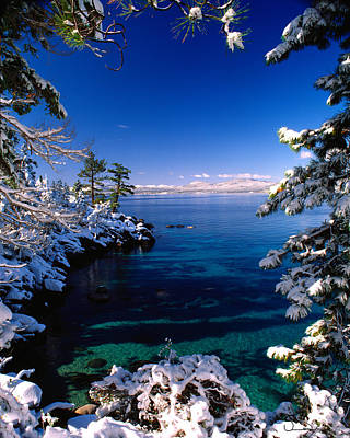 Spring Landscape Photograph - Emerald Waters Lake Tahoe by Vance Fox