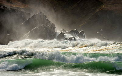 Photograph - Emerald Waves At Clogher by Barbara Walsh