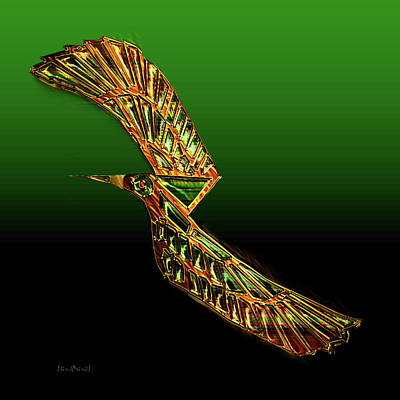 Digital Art - Emerald Wings by Asok Mukhopadhyay