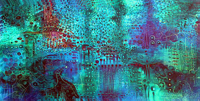 Painting - Emerald World by Lolita Bronzini