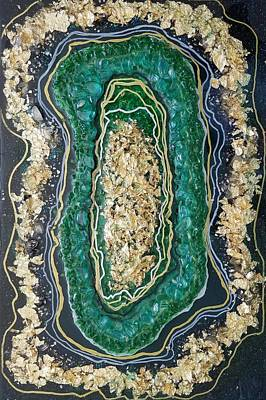 Mixed Media - Emeralds And Gold by Gerry Smith
