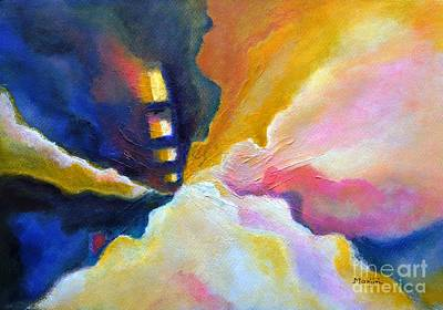 Painting - Emergence Abstract Colorful Inspirational Painting by Manjiri Kanvinde