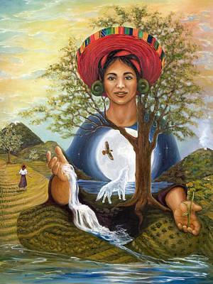Mayan Painting - Emergence by Ann Beeching