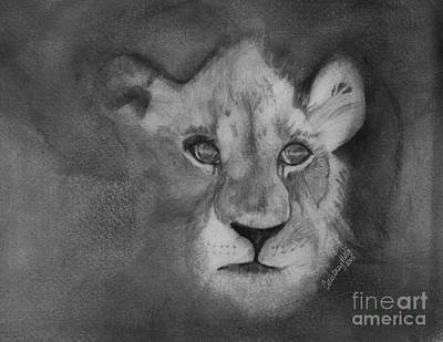 African Big Cats Drawing - Emergence by Courtney Herz