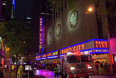 Art Print featuring the photograph Emergency At Radio City by RKAB Works