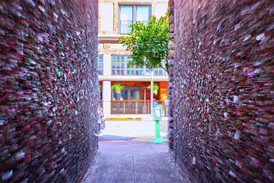 Photograph - Emergency Exit Bubblegum Alley by Marnie Patchett