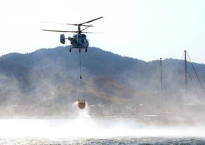 Emergency Helicopter Art Print by Svetlana Sewell
