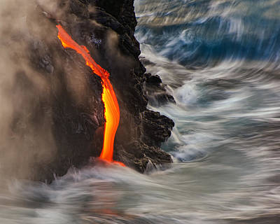 Volcano Photograph - Emergent by Andrew J. Lee