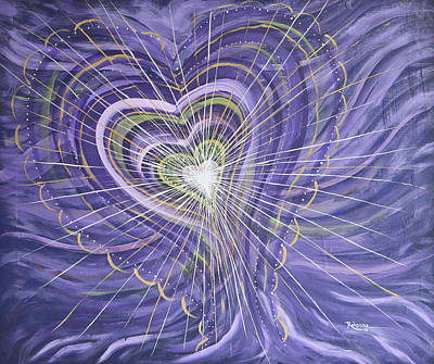 Oneness Painting - Emerging Heart by Judy M Watts-Rohanna