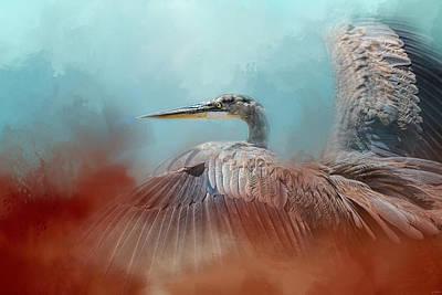 Photograph - Emerging Heron by Jai Johnson