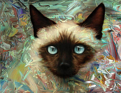 Digital Art - Emerging Kitten by James W Johnson