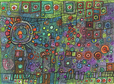 Drawing - Emerging by Sandra Church