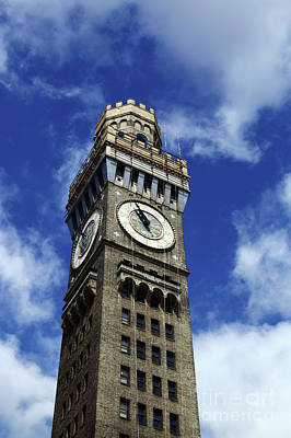 Photograph - Emerson Bromo-seltzer Tower And Summer Skies Baltimore by James Brunker