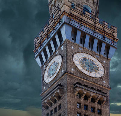 Emerson Digital Art - Emerson Bromo-seltzer Tower by Terry Davis