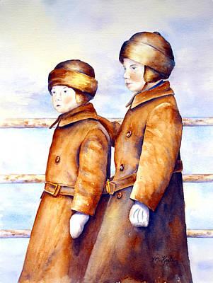 Painting - Emigrant Boys - Ellis Island by Marsha Karle