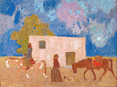 Campesino Painting - Emigration by Pedro Figari