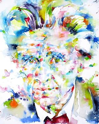 Emil Cioran - Watercolor Portrait Original