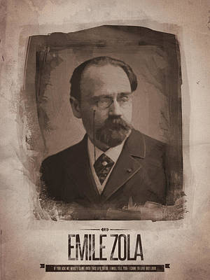 Emile Zola Print by Afterdarkness