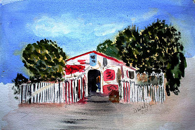 Art Print featuring the painting Emiles Road Side Grocer by Donna Walsh