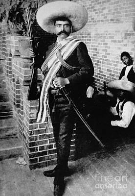 Military Uniform Photograph - Emiliano Zapata by American School