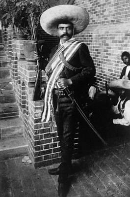 Belt Photograph - Emiliano Zapata Ca. 1879-1919, Mexican by Everett