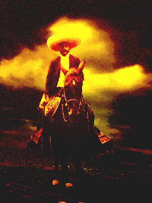 Mexicano Photograph - Emiliano Zapata Y Caballo by Totto Ponce