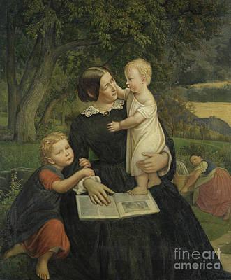 Painting - Emilie Marie Wasmann, The Artist's Wife by Rudolph Friedrich Wasmann