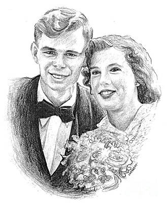 Drawing - Emily And Garry by Dave Luebbert