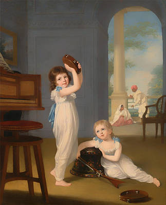 Girl Playing Piano Painting - Emily And George Mason by Mountain Dreams