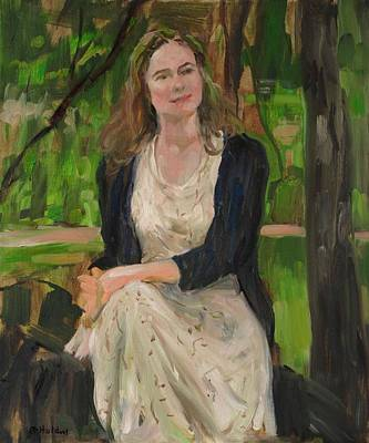 Painting - Emily At Ease In Central Park by Robert Holden