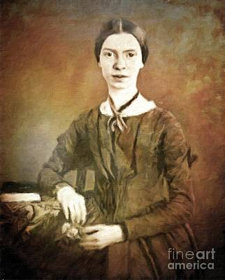 Literature Painting - Emily Dickinson, Literary Legend By Mary Bassett by Mary Bassett