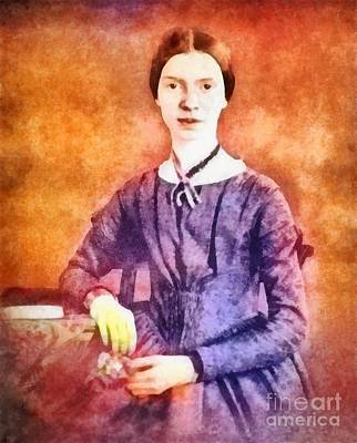 Famous Book Painting - Emily Dickinson, Literary Legend by Frank Falcon