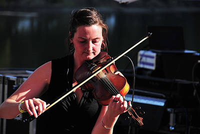 Photograph - Emily Fiddling Around by Mike Martin