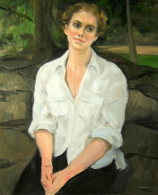 Painting - Emily In Central Park by Robert Holden
