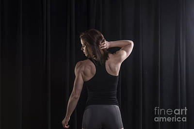 Photograph - Emily Showing Her Back Muscles by Dan Friend