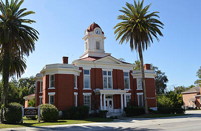 Photograph - Emily Taber Public Library - Macclenny, Fl by rd Erickson