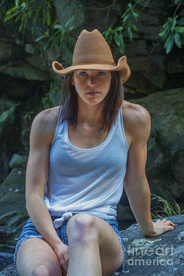 Photograph - Emily With Cowboy Hat by Dan Friend