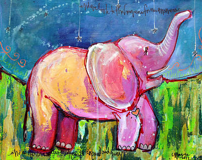 Painting - Emily's Elephant 2 by Laurie Maves ART