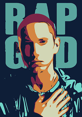Pop Art Royalty-Free and Rights-Managed Images - Eminem by Greatom London