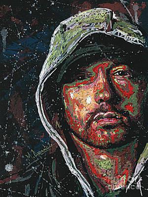 Painting - Eminem by Maria Arango