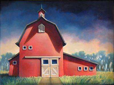 Farm Scene Painting - Eminence by Roberta Smith