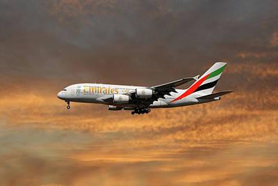 Emirates Airbus A380-861 3 Art Print