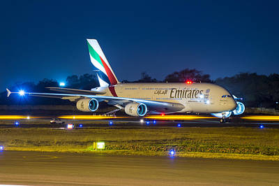 Emirates Airlines A380 Original by Abhishek Singh