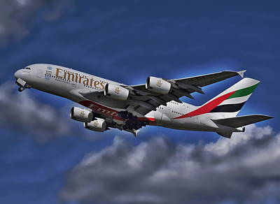 Photograph - Emirates Passenger Plane by Anthony Dezenzio