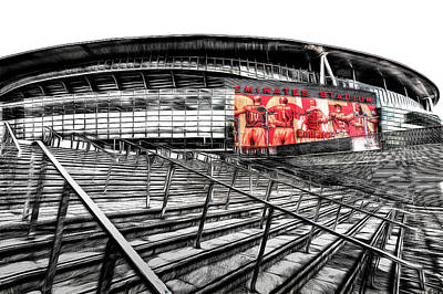 Mixed Media - Emirates Stadium London Art by David Pyatt