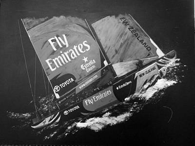 Painting - Emirates Team New Zealand by Richard Le Page