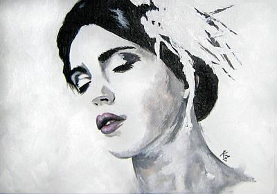 Sad Painting - Emma #1 - Portrait Series #4 by Katia Zhukova