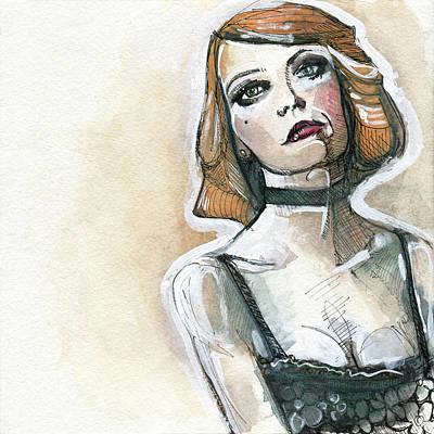 Emma In Choker Print by Rob Tokarz