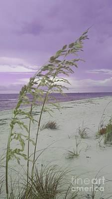 Emma Kate's Purple Beach Art Print